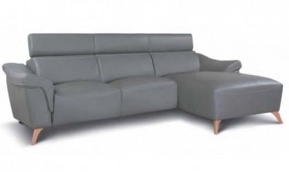Sofá chaise longue con 2...